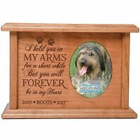 Cremation Urn for Pet Ashes Large Wooden Funeral Urns Holds 2x3 Photo