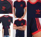 Adidas Mens T Shirt Football Training Top Gym Climalite California Trefoil S M L
