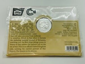 The Royal Mint 2014 Centenary of The Outbreak of World War I Silver £20 Coin