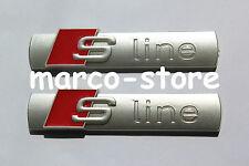 2 x LOGO FREGIO STEMMA EMBLEMA AUDI S LINE A1 A2 A3 A4 A5 A6 A7 A8 Q3 Q5 Q7 ABS