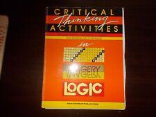 Critical Thinking Activities Blackline Masters Grades K-3 Seymour & Beardslee