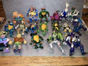 Teenage Mutant Ninja Turtles 18 Figures Loose Lot With Weapons - TMNT
