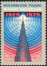 Russia 1979 RADIO MOSCA/broadcasting/radio Antenna Mast// comunicazione 1v n43983