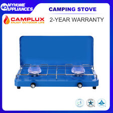 CAMPLUX Camping Stove 2 Burner Gas Portable Butane BBQ Stove Cooker