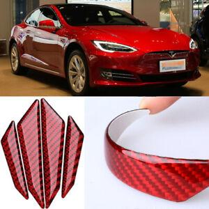 For Tesla MODEL X S 3 Y Car Side Door Edge Guard Bumper Protector carbon fibre