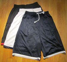 Men Sport Dazzle Shorts 100% Polyester 2 side Pocket 100 Pc Black Navy Wholesale
