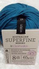 Cleckheaton Superfine Merino 8 Ply #54 Peacock 65g Machine Washable Luxury Wool