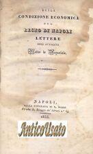DELLA CONDIZIONE ECONOMICA DEL REGNO DI NAPOLI Matteo De Augustinis 1833 Manzi *