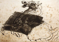 "Claude Weisbuch ""Cheval Dresse"" Hand Signed Etching 1978 Artwork Make Offer!"