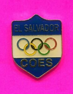 1980s EL SALVADOR IOC OLYMPIC PIN VINTAGE NATIONAL OLYMPIC COMMITTEE PIN BY GCI