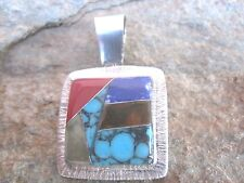 Enhancer Pendant Handcrafted Stone Mosaic Inlay Fair Trade Made in Mexico  mp09