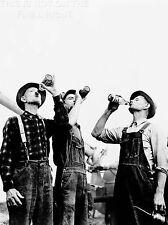 Impresión arte cartel vintage Foto Jackson Michigan agricultores bebiendo cerveza nofl1492