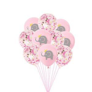 Pink Elephant Princess Balloons,Birthday Party Decor,Pink Confetti Balloon,5 pcs