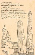 9816) BOLOGNA FUCI LE DUE TORRI CHIACCHERANO SULL FESTA DELLE MATRICOLE VG 1934.
