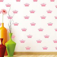 Vinyl Wall Stickers Decals - DIY - Pink Crowns
