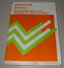 Betriebsanleitung Honda EX 350 Motor Generator / Owner´s Manual Stand 1988!