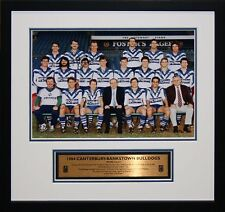 1984 Bulldogs  Team Photo signed by Darryl Brohman and Terry Lamb Framed