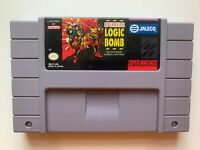 Operation Logic Bomb SUPER NINTENDO SNES Game Tested + Working & Authentic!
