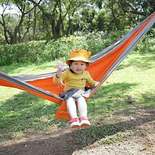 Outdoor Yellow Swing Hammock Cotton Sleeping Bed Camping Double Bed Size