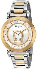 Salvatore Ferragamo Women's FQ4250015 Minuetto Diamond Gold IP Steel Watch