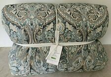Pottery Barn Mackenna Percale Paisley KING comforter quilt BLUE