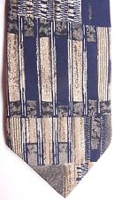 "417 Van Heusen Men's Silk Tie 56"" X 4"" Multi-Color Abstract Striping"