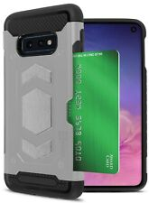 Silver Magnetic Credit Card Holder Phone Cover Case for Samsung Galaxy S10E