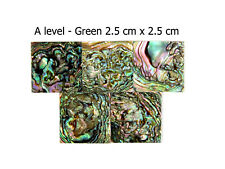5 pcs of 2.5cm Square GREEN Mexico Abalone Shell.Guitar Inlay Mosaic Jewerly