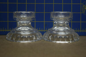 Two Circular Crystal Candle Holders