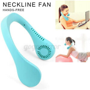 Portable USB Hanging Neck Fan 2 In 1 Air Cooler Mini Electric Air Conditioner AU
