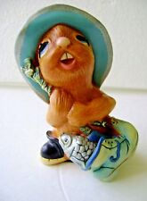 Vintage Pendelfin Whopper Rabbit Figure Nice! Made In England ~ Hand Painted A1