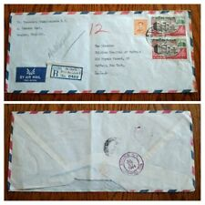 """VERY RARE THAILAND 1964 """"REGISTERED"""" 3 X2 BHAT BUILDINGS HIGH VALUE STAMPS COVER"""