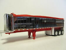 DCP 1/64 SCALE MAC FRAME TYPE DUMP TRAILER TRIPLE AXLE CHROME / RED TARP & FRAME