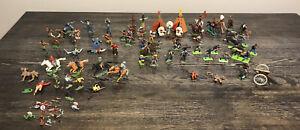 Vintage Britains Deetail LTD Swappets Large Lot Of Toy Soilder Miniatures 1970's