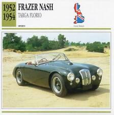 1952-1954 FRAZER NASH TARGA FLORIO Sports Classic Car Photo/Info Maxi Card