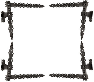 4St. Winkelband Winkelbänder Türbänder Türband Torbänder Dorn 16mm Schmiedeeisen
