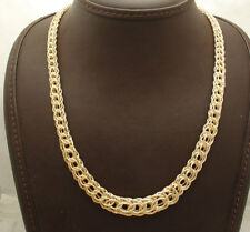 Technibond Graduated Byzantine Chain Necklace 14K Yellow Gold Clad Silver