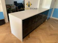 Crystal White Quartz Kitchen Worktops | All colours available! | Sample
