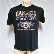 VTG Harley Davidson 3d Emblem T Shirt 80's Cycle Empire Thin Whiskey Mens XL