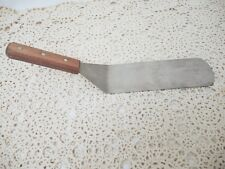 "SPATULA WITH WOODEN HANDLE - 14"" LONG"