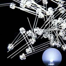 100 pcs 5mm Straw hat white LED Wide Angle Light lamp Free Shipping New