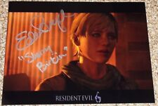 Autographed RESIDENT EVIL Video Game Photos Signed By Voice Actors