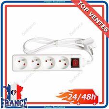 Bloc Multiprises 4 Prises Électrique 2P+T 16A avec Interrupteur Rallonge 115m