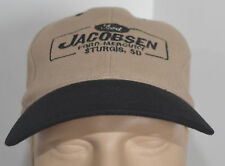 VTG Jacobsen Ford Mercury Snapback Beige Black Baseball Ball Cap Lid Sturgis SD