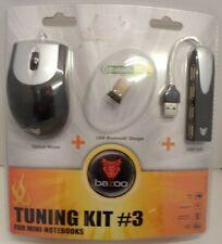 Bazoo Tuning Kit 3 Optical USB Mouse - USB Bluetooth Dongle + USB Hub