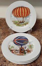 Set Of 4 Limoges France Rochard Dated Balloon Plates Ec