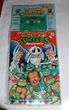 TEENAGE MUTANT NINJA TURTLES - COMIC BOOK & CASSETTE TAPE - 1990 - NRFP