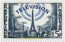 EBS France 1955 Television - Eiffel Tower and TV antennas - YT 1022 MNH**