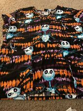 Disney The Nightmare Before Christmas Jack Skellington Womens Scrub top Scrubs