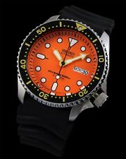 NEW MEN'S SEIKO 200M 21 JEWEL ORANGE DIAL AUTOMATIC PRO-DIVERS WATCH SKX011J1